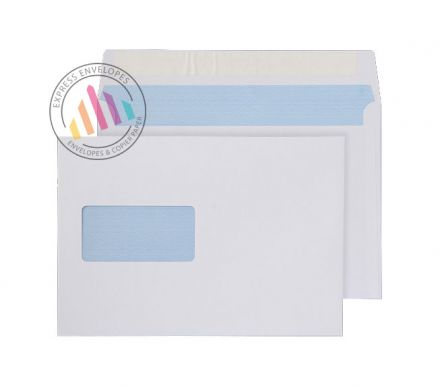 C5 - White Commercial Envelopes - 100gsm -  Window - Peel & Seal