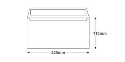 DL - White Commercial Envelope - 100gsm - Non Window - Peel & Seal - image 2