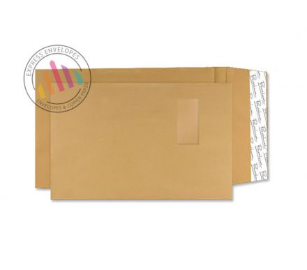 C4 - Cream Manilla Envelopes - 130gsm - Window - Peel and Seal