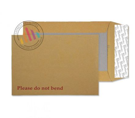 C4 - Cream Manilla Board Back Envelopes - 130gsm - Non Window - Peel and Seal