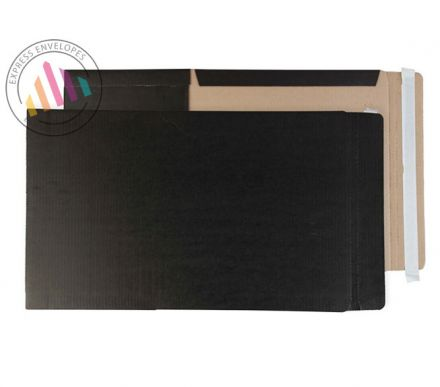 A4+ and SRA4 350×250×50mm - Jet Black Book Wrap - Peel and Seal