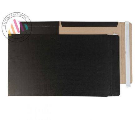 241×178×50mm - Jet Black Book Wrap - Peel and Seal
