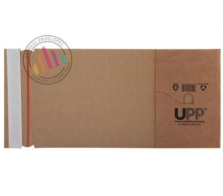 302×215×80mm - Manilla Book Wrap - Peel and Seal