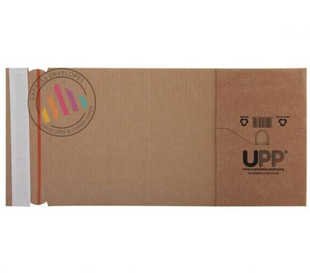 145×127×50mm -  Manilla Book Wrap - Peel and Seal