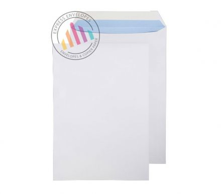 C4 - White Commercial Envelopes - 100gsm - Non Window - Peel & Seal