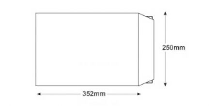 B4 - White Board Back Envelopes - 120gsm - Non Window - Peel and Seal - image 2