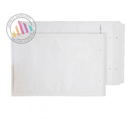 470×350mm - White Padded Bubble Pocket - Peel and Seal