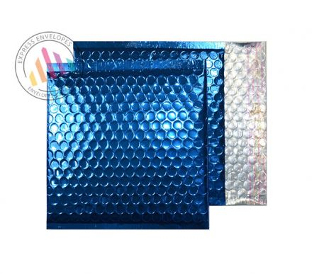 165×165mm - CD Peacock Blue Padded Bubble Envelopes - Peel and Seal