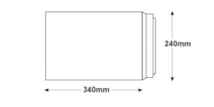 340 x 240mm - Ultra White Commercial Envelopes - 120gsm - Non Window - Peel & Seal - image 2