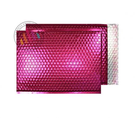 250×180mm - Party Pink Padded Bubble Envelopes - Peel and Seal