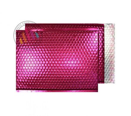 C4 - Party Pink Padded Bubble Envelopes - Peel and Seal