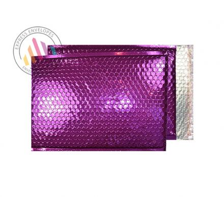 250×180mm - Purple Grape Padded Bubble Envelopes- Peel and Seal