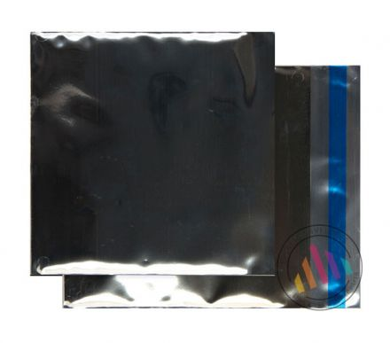 165×165mm - CD Metallic Silver Foil Envelopes - 70µ - Peel and Seal