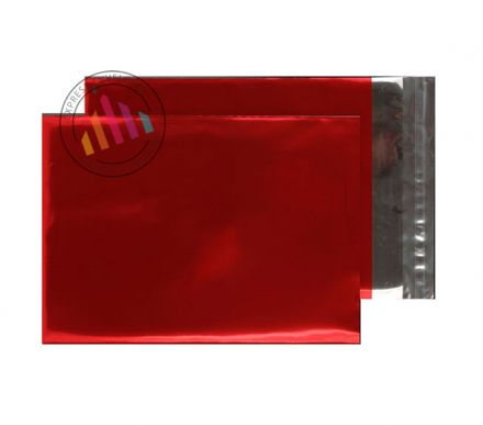 C4 - Metallic Red Foil Envelopes - 70µm - Peel and Seal