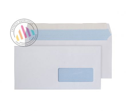 DL - White Commercial Envelopes - 100gsm - Right Hand Window - Peel & Seal