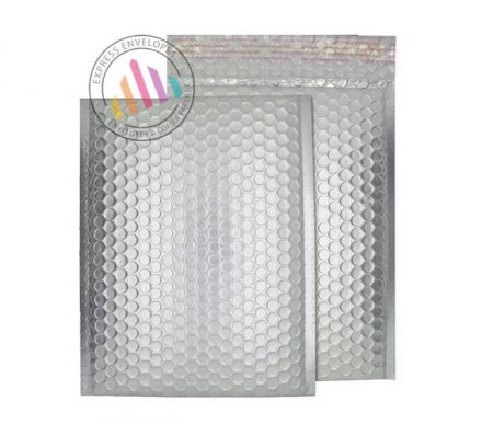 250×180mm - Brushed Chrome Padded Bubble Envelopes - Peel and Sea