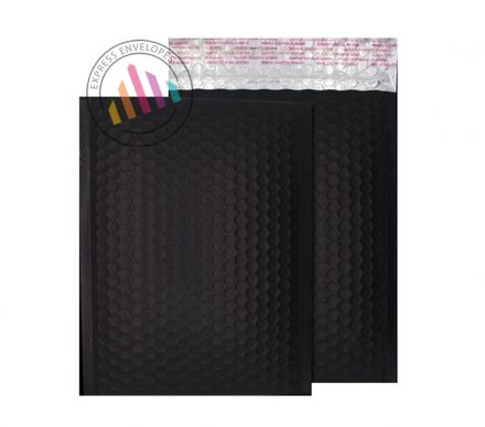 C5+ - Charcoal Black Padded Bubble Envelopes - Peel and Seal