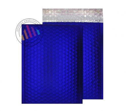 C5+ - Neon Blue Padded Bubble Envelopes - Peel and Seal