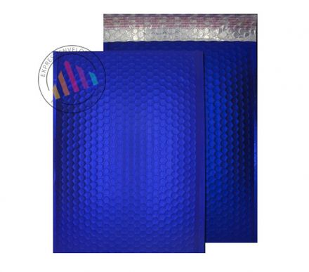 C4 - Neon Blue Padded Bubble Envelopes - Peel and Seal