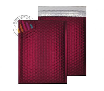 250×180mm - Bordeaux Padded Bubble Envelopes - Peel and Seal
