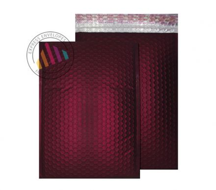C4 - Bordeaux Padded Bubble Envelopes - Peel and Seal