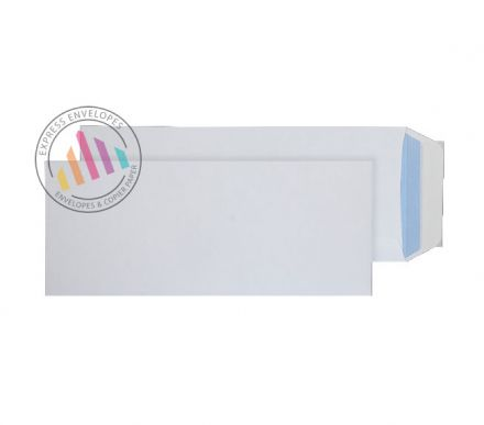 305 x 127 - White Commercial  Envelopes - 100gsm - Non Window - Peel & Seal