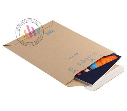 280×200mm - Corrugated Kraft Envelopes - Peel and Seal
