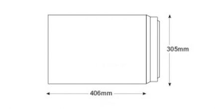 406 x 305mm - White Commercial  Envelopes - 120gsm - Non Window - Peel & Seal - image 2