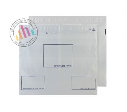 C2 - White Polythene Envelopes - 70µm - Non Window - Peel and Seal