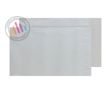 C5+ - White Polythene Envelopes - 70µm - Non Window - Peel and Seal