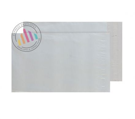 C4+ - White Polythene Pocket - 70µm - Non Window - Peel and Seal