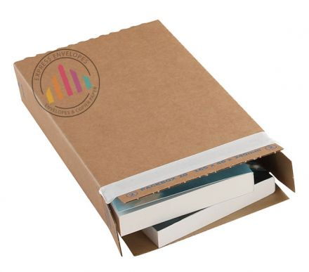 346×243×46mm - Kraft Carton Box - Peel and Seal