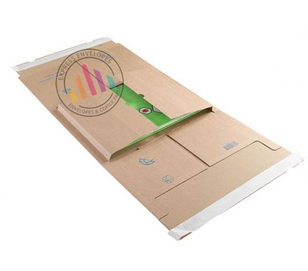 310×250×20-100mm - Kraft Postal Wrap - Peel and Seal
