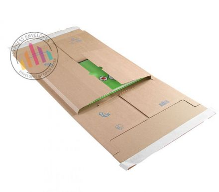 455×320×20-100mm - Kraft Postal Wrap - Peel and Seal