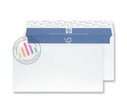 DL - Super White Wove Envelopes - 120gsm - Non Window - Peel and Seal