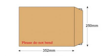 B4 - Manilla Board Back Envelopes - 120gsm - Non Window - Peel and Seal - image 2