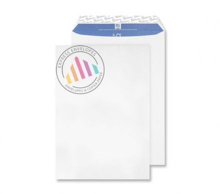 C4 - Super White Wove Envelopes - 120gsm - Non Window - Peel and Seal
