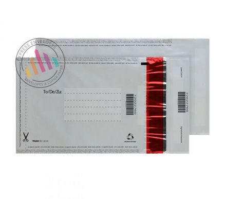 240×135mm - White Polythene Envelopes - 70µm - Non Window - Peel and Seal