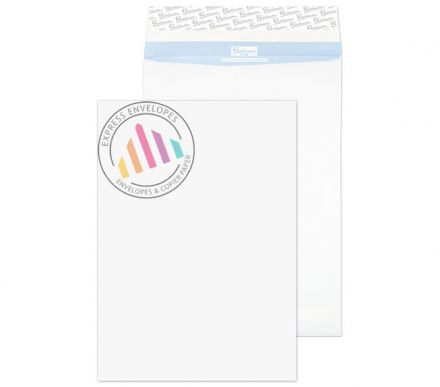 B4 - Tear Resistant White Gusset Envelopes - 125gsm - Non Window - Peel and Seal