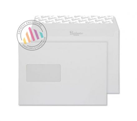 C5 - Brilliant White Wove Envelopes - 120gsm - Window - Peel and Seal