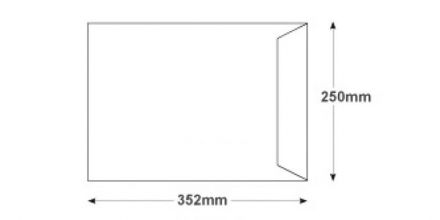 B4 - White Commercial  Envelopes - 100gsm - Non Window - Gummed - image 2