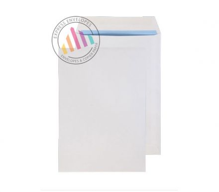 254 x 178 -  White Commercial Envelopes - 100gsm - Non Window - Gummed