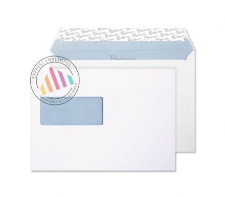 C5 - Ultra White Wove Envelopes - 120gsm -  Window - Peel and Seal