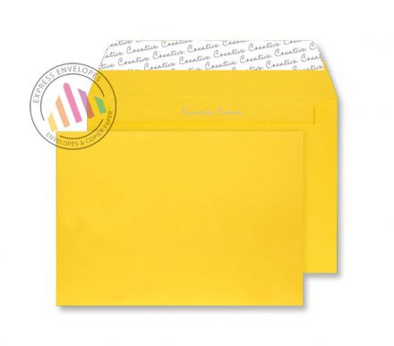 C4 - Egg Yellow Envelopes - 120gsm - Non Window - Peel and Seal