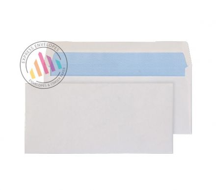 89x152mm -  White Commercial Envelopes - 80gsm - Non Window - Gummed
