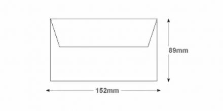 89 x 152 -  White Commercial Envelopes - 80gsm - Non Window - Gummed - image 2