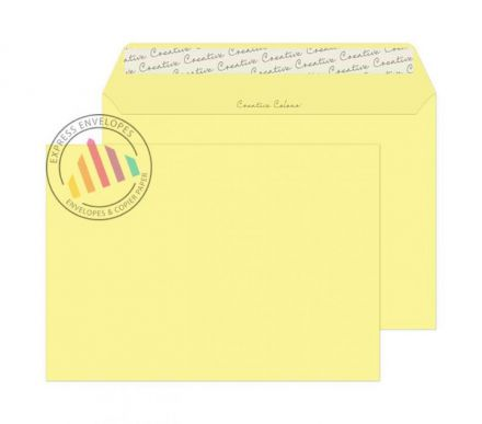 C4 - Lemon Yellow Envelopes - 120gsm - Non Window - Peel and Seal