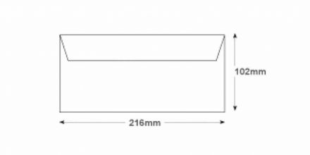 DL BRE - White Commercial Envelopes - 80gsm - Non Window - Gummed - image 2