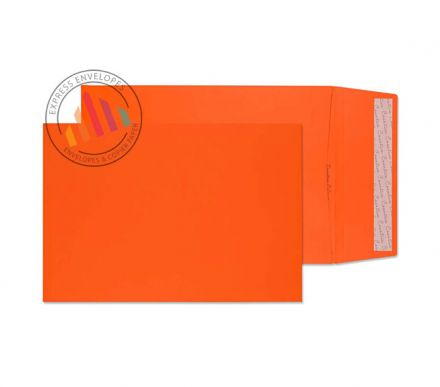 C4 - Pumpkin Orange Gusset Pocket - Non Window - Peel and Seal
