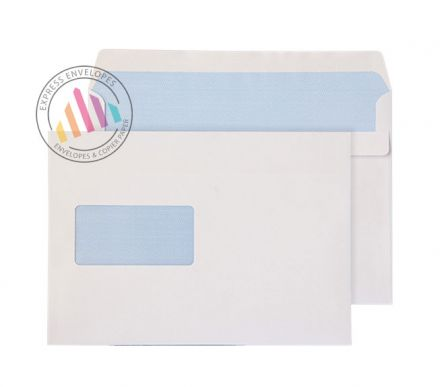 C5++ - White Commercial Envelopes - 90gsm -  Window - Self Seal